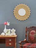 "Oberon Wall Mirror Diameter - 30.5"" Golden Colour VDSM-15_UL"