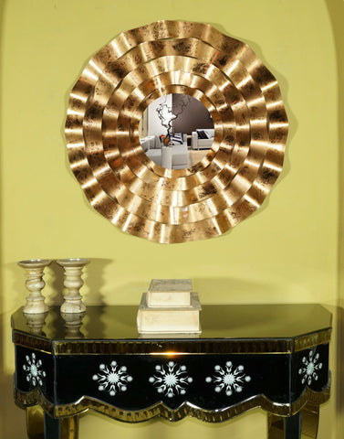 "Melodie Accent Wall Mirror Diameter - 27.5"" Bronze Colour VDSM-44_UL"