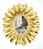 Gold Leaf Accent Wall Mirror VDSM-47