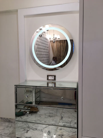 LED Mirror And Mirrored Cabinet