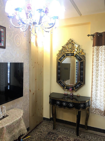 Venetian Mirror and Console Set