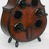Hazelnut Violin Wine Rack