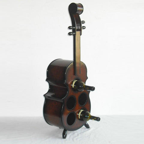 Cocoa Brown Violin Wine Rack