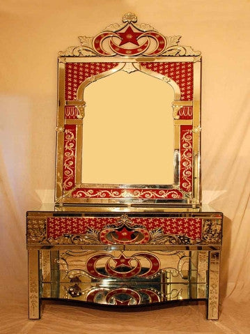 ISLAMIC CONSOLE TABLE WITH MIRROR CWM-161