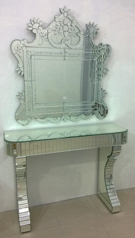 Console Table With Mirror Cwm 611 Venetian Design The Boutique Factory 100 Heart Made Products
