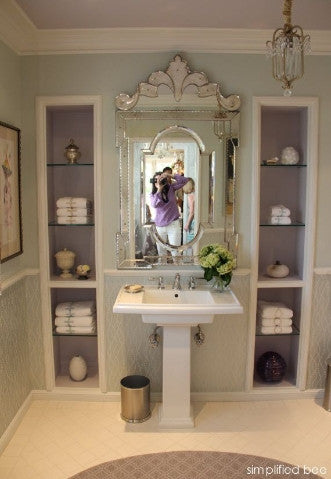 Rectangular Venetian Mirror for Wash Basin VD-PI-662