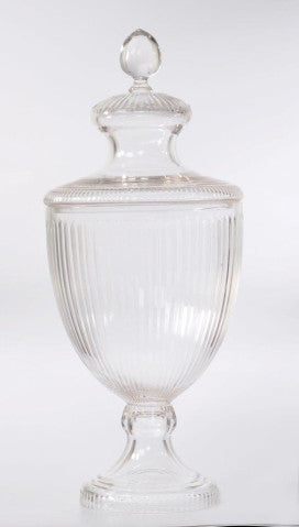 CUT GLASS JAR (SHOW PIECE)