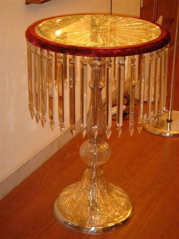 Crystal Cut Glass Table