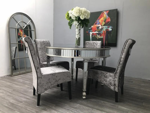 Mirrored Round Dining Table