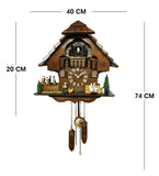 Majestic Cuckoo Clock With Dancers And Musician Figures