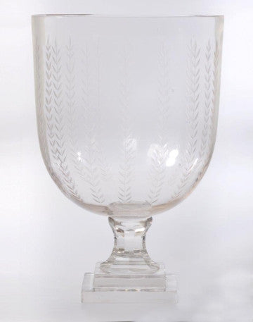 GLASS VASE CANDLE STAND