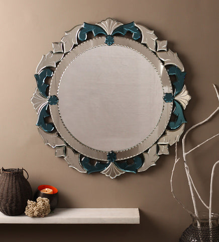Round Blue Wall Mirror VDBL-08