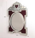 Royal Maroon Venetian Mirror VDBL-07