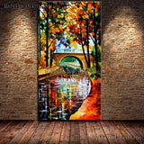 Hand-painted Modern Design Knife Oil Canvas Painting