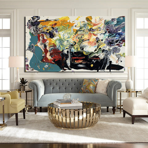 Modern abstract Art wall picture for living room, No Frame