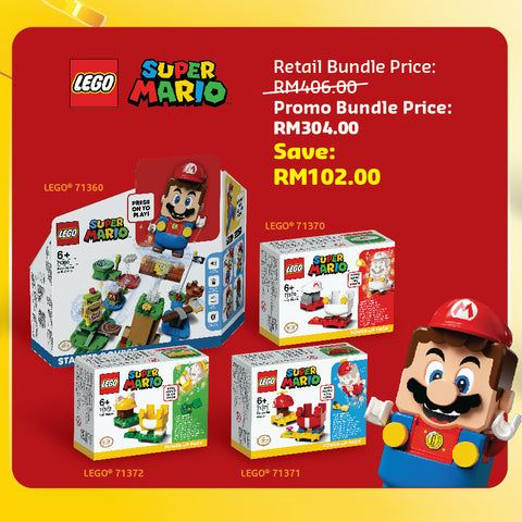 Awesome Feb: Super Mario Bundle (71360, 71370, 71372, 71371)