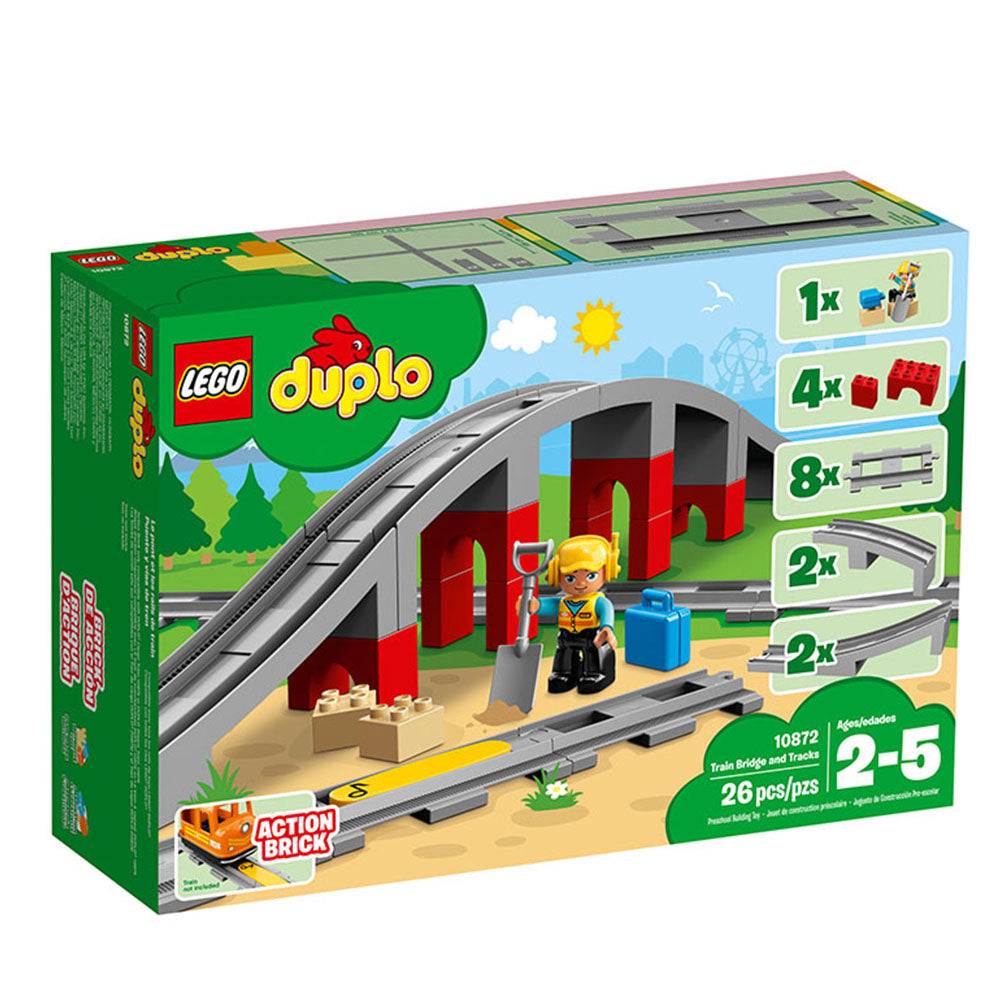10872 Duplo Town Train Bridge & Tracks