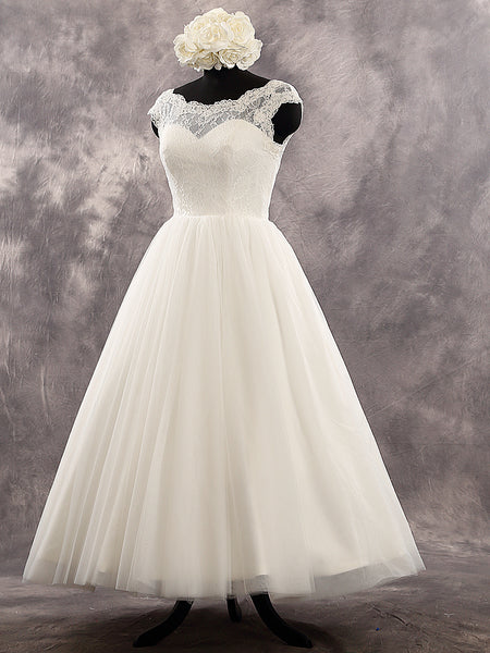Tea/Knee Length Wedding Dresses