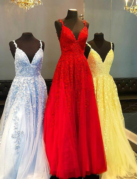 Tulle and Lace Prom Dresses Wedding Party Dresses LPD611 - LaRovias