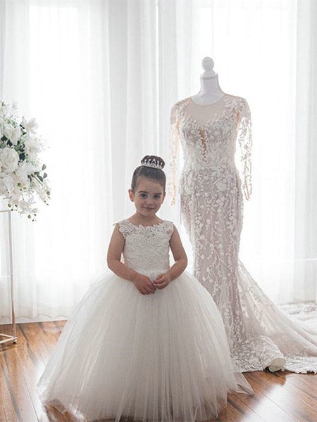 Lace and Tulle Flower Girl Dresses FG0053 - LaRovias