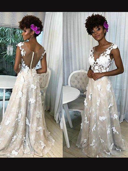 Tulle and Lace Wedding Dress Bridal Gown LSY119 - LaRovias