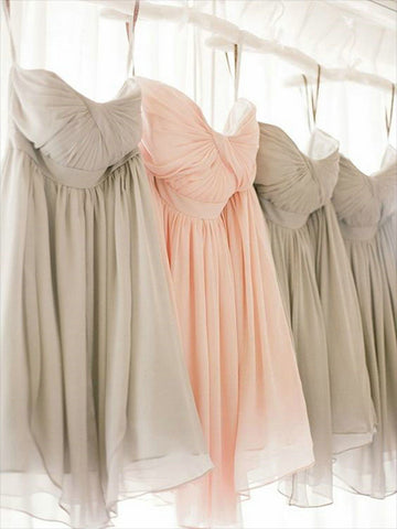 Knee Length Chiffon Bridesmaid Dresses BM011 - LaRovias
