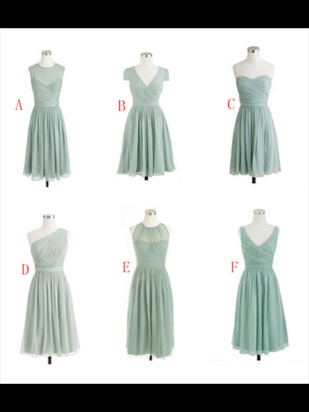 Knee Length Chiffon Bridesmaid Dresses BM012 - LaRovias