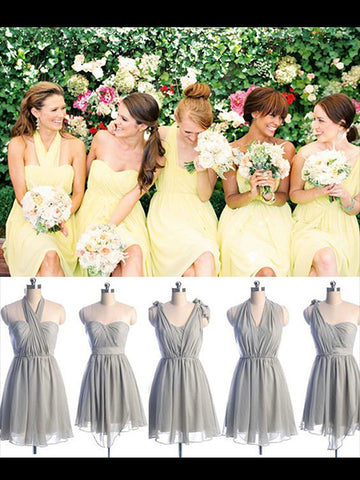 Knee Length Chiffon Bridesmaid Dresses BM014 - LaRovias