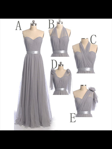 Floor Length Chiffon Bridesmaid Dresses BM015 - LaRovias