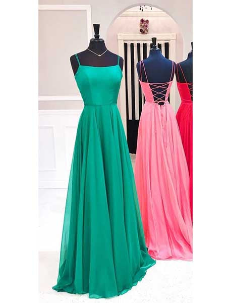Prom Dresses Formal Dresses Wedding Party Dresses with Spaghetti Straps LPD179 - LaRovias