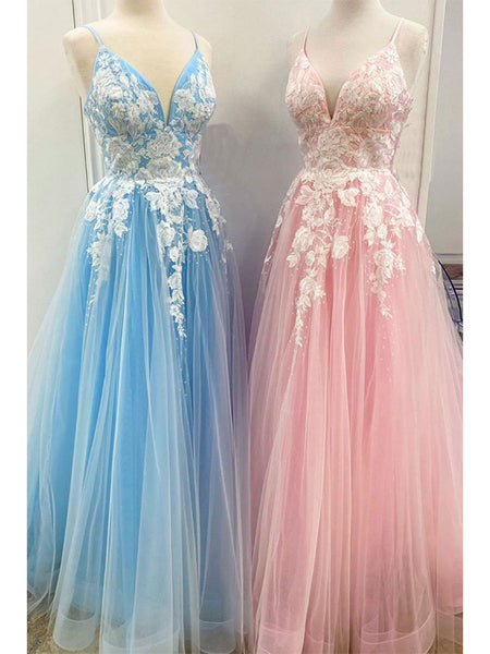 Tulle and Lace Prom Dresses Formal Dresses Party Gowns LPD934 - LaRovias