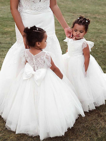 Tulle Flower Girl Dresses FG0052 - LaRovias