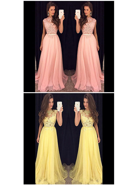 Lace Prom Dresses Formal Dresses Wedding Party Dresses LPD316 - LaRovias