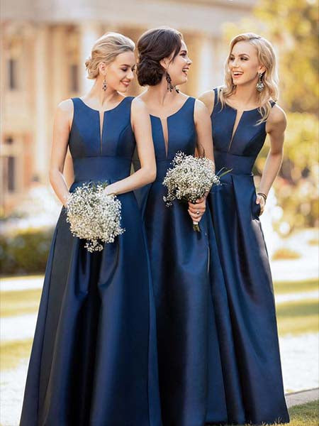 Floor Length Bridesmaid Dresses BM035 - LaRovias