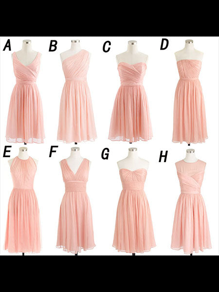 Short Chiffon Bridesmaid Dresses BM004 - LaRovias