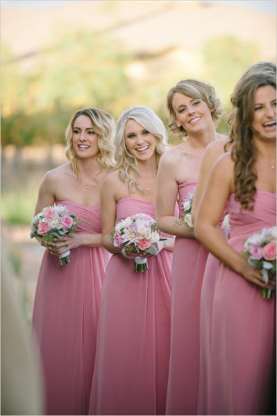 Chiffon Floor Length Bridesmaid Dresses BM046 - LaRovias