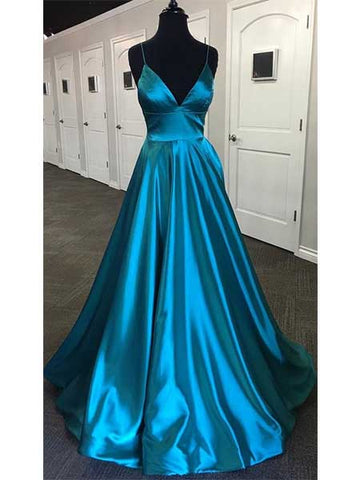 A Line Satin Formal Dresses Prom Dresses Wedding Party Dresses LPD477 - LaRovias