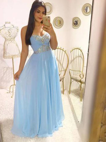 Beade Chiffon Formal Dresses Prom Dresses Wedding Party Dresses LPD494 - LaRovias