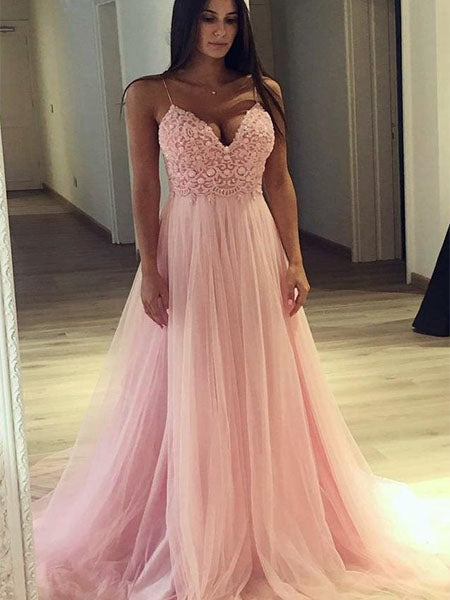 Lace and Tulle Formal Dresses Prom Dresses Wedding Party Dresses LPD496 - LaRovias