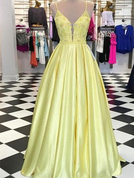 Satin and Lace Formal Dresses Prom Dresses Wedding Party Dresses LPD497 - LaRovias