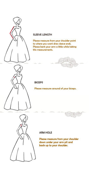 Applique Prom Dresses Formal Dresses Wedding Party Dresses with Long Sleeves LPD161 - LaRovias