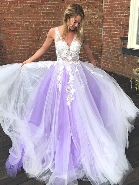 Lace and Tulle Formal Dresses Prom Dresses Wedding Party Dresses LPD506 - LaRovias