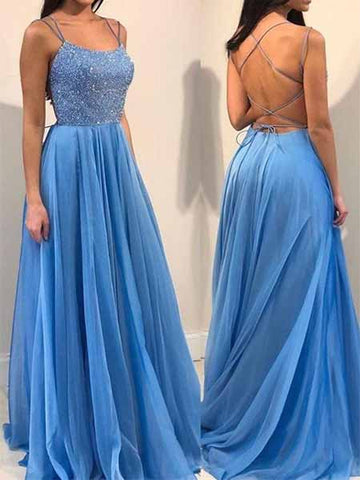 Beaded Chiffon Prom Dresses Sweet 16 Dresses Wedding Party Dresses  LPD520 - LaRovias