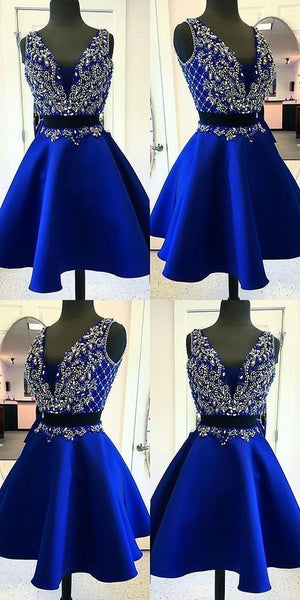 Two Pieces Homecoming Dresses Sweet 16 Dresses Wedding Party Dresses LPD524 - LaRovias