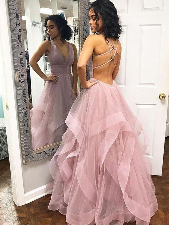 Tulle Prom Dresses Sweet 16 Dresses Wedding Party Dresses LPD526 - LaRovias