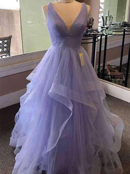 Tulle Prom Dresses Sweet 16 Dresses Wedding Party Dresses LPD531 - LaRovias
