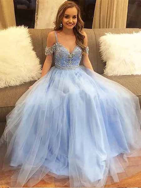 Off the Shoulder Prom Dresses Sweet 16 Dresses Wedding Party Dresses LPD535 - LaRovias