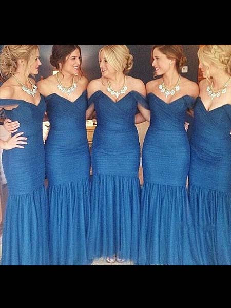 Tulle Mermaid Bridesmaid Dresses BM053 - LaRovias