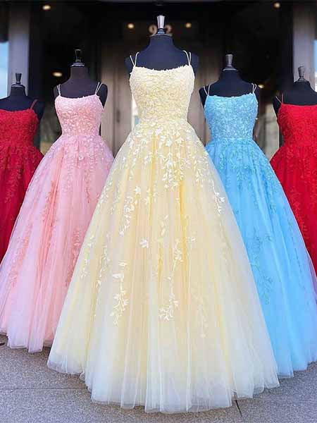 Tulle and Lace Prom Dresses Sweet 16 Dresses Wedding Party Dresses LPD548 - LaRovias