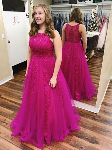 Tulle and Lace Prom Dresses Sweet 16 Dresses Wedding Party Dresses LPD555 - LaRovias